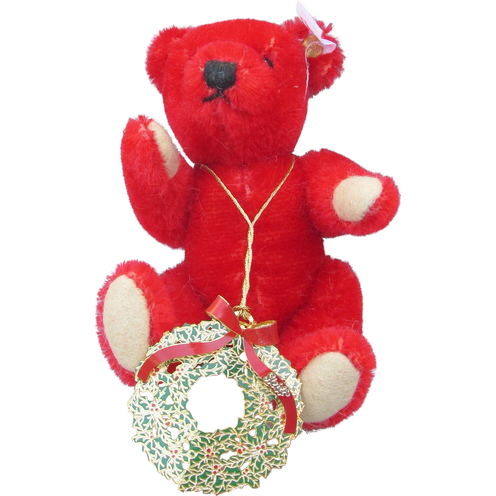 Steiff Red Christmas Bear with Ornament | Red christmas ...
