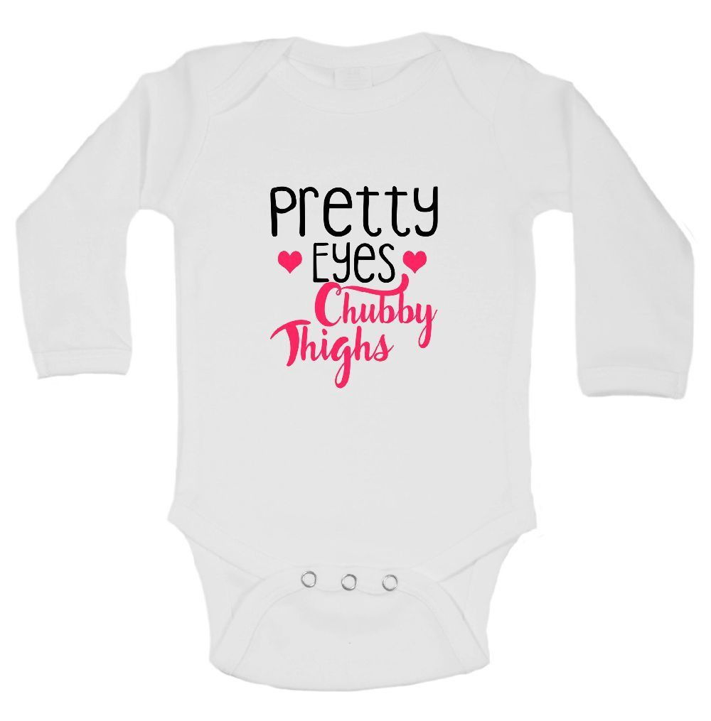 Pretty Eyes Chubby Thighs Funny Kids Onesie