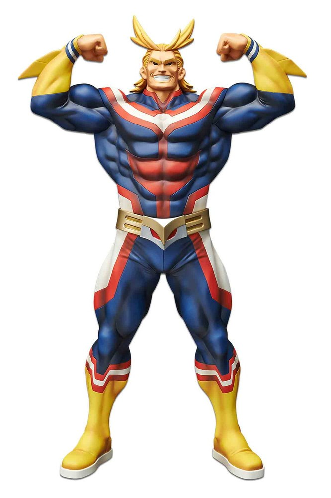 This Figure Features All Might In His Classic Flexing Pose With His Incredible Physique Does The Human Body Even Have That Many My Hero Academia My Hero Hero