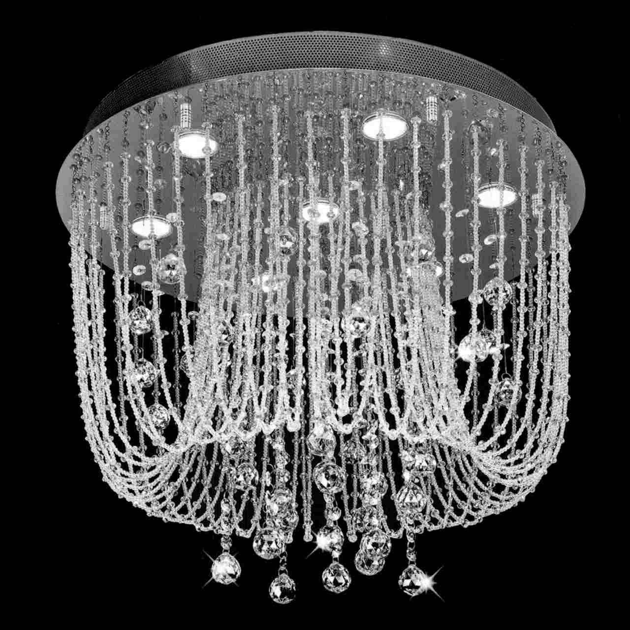 Brizzo lighting stores 24 chateaux modern foyer crystal show details for chateaux modern foyer crystal chandelier mirror stainless steel gold plated base 7 lights arubaitofo Image collections