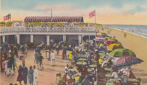 Virginia Beach Virginia Surf Club Vintage Linen Postcard C 1940s Frank G Ennis Paper Co By Agnesofboh Virginia Beach Virginia History Virginia Beach Va