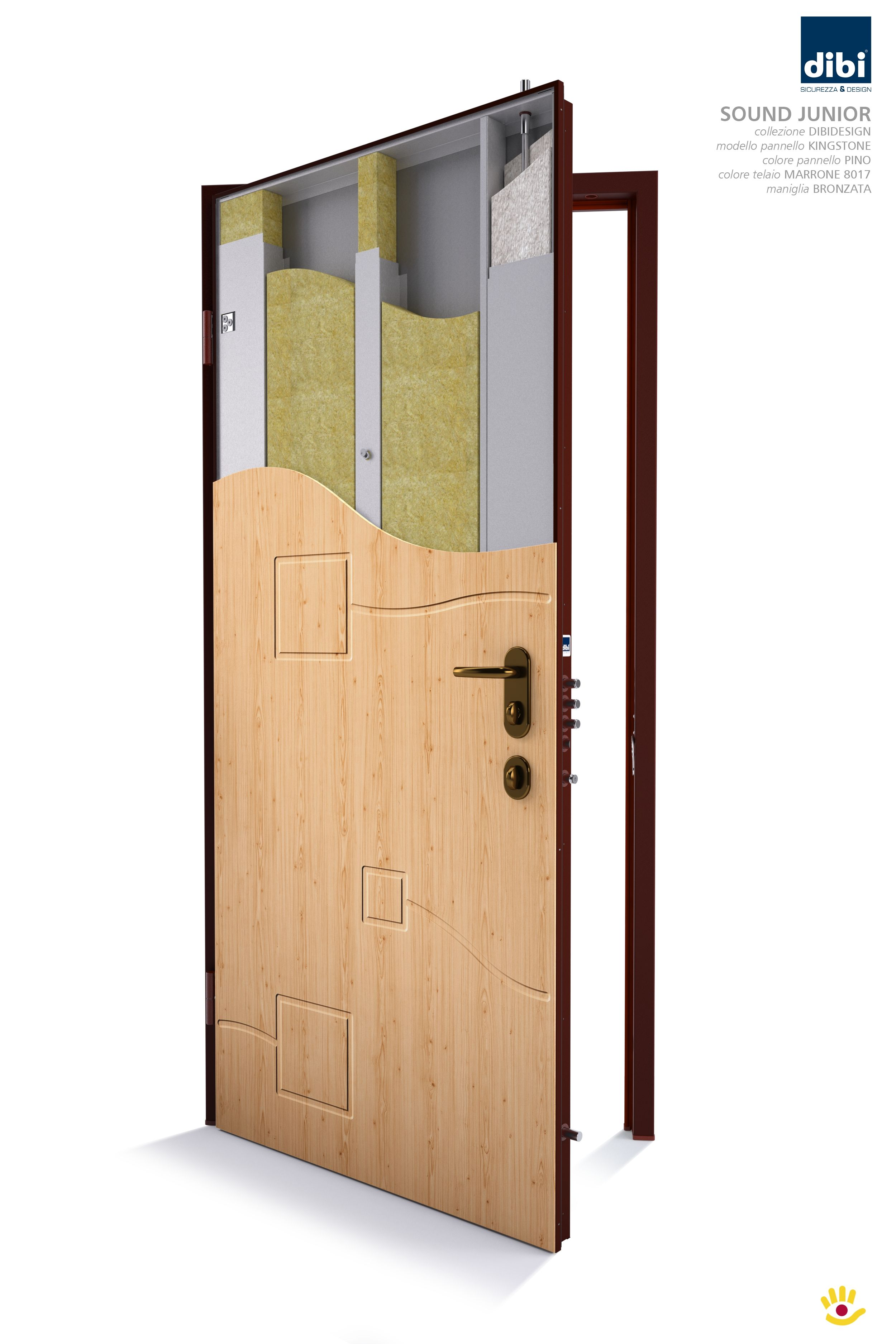 Colori Pannelli Porte Blindate model sound junior- the security door with acoustic