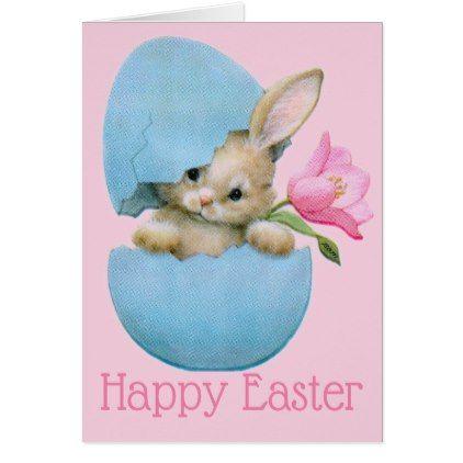 Retrovintage easter bunny card vintage easter retrovintage easter bunny card retro gifts style cyo diy special idea negle Choice Image