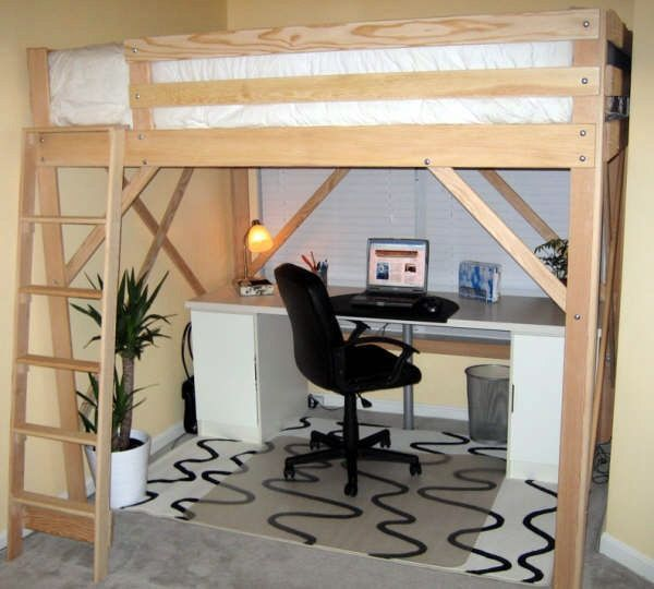 Queen Size Loft Bed Woodworking Projects Plans Homelovin