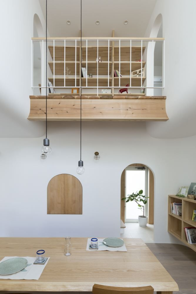 soft curves in Outsu-house, Japan Interior Design - Inspirational