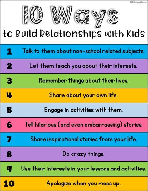 Photo of FREE 10 Ways to Build a Relationship Poster! #sel #socialemotionallearning #pathw …