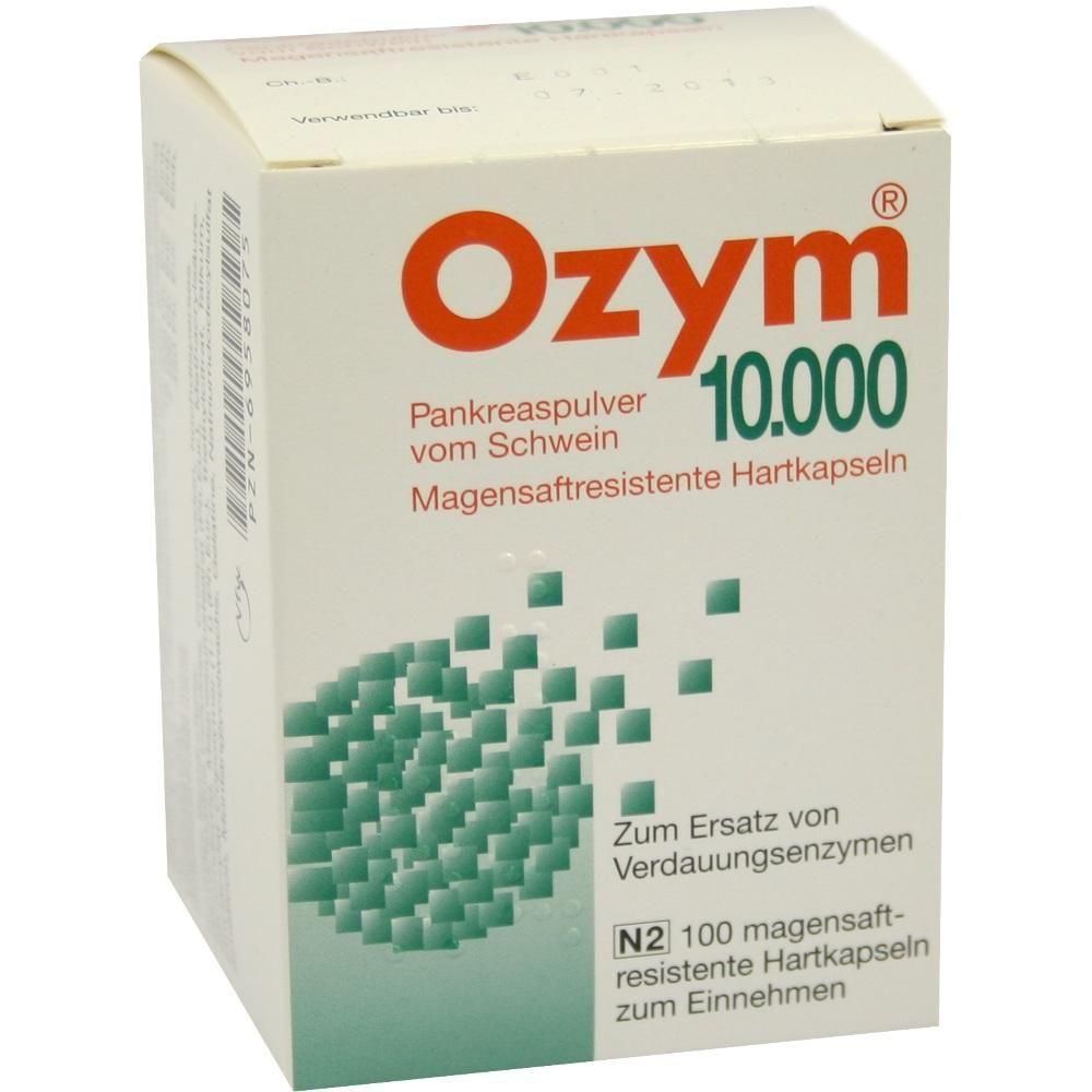OZYM 10.000 Hartkapseln:   Packungsinhalt: 100 St Kapseln PZN: 06958075 Hersteller: Trommsdorff GmbH & Co. KG Preis: 15,13 EUR inkl. 19 %…