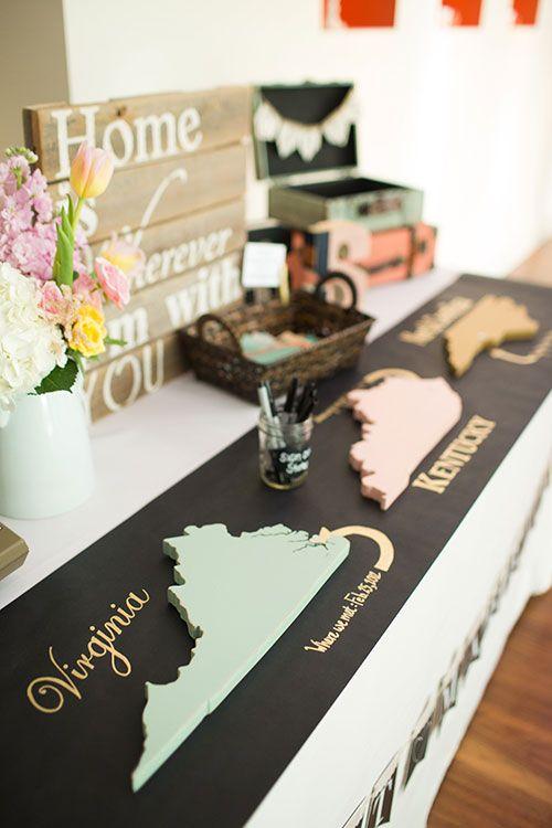 Modern Vintage North Carolina Wedding, Decorative Guestbook | Brides.com
