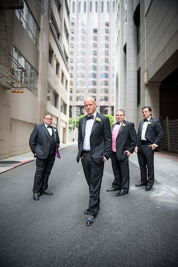 Wedding photography of groom and groomsmen at a wedding in San Francisco California. www.danielnealphotography.com