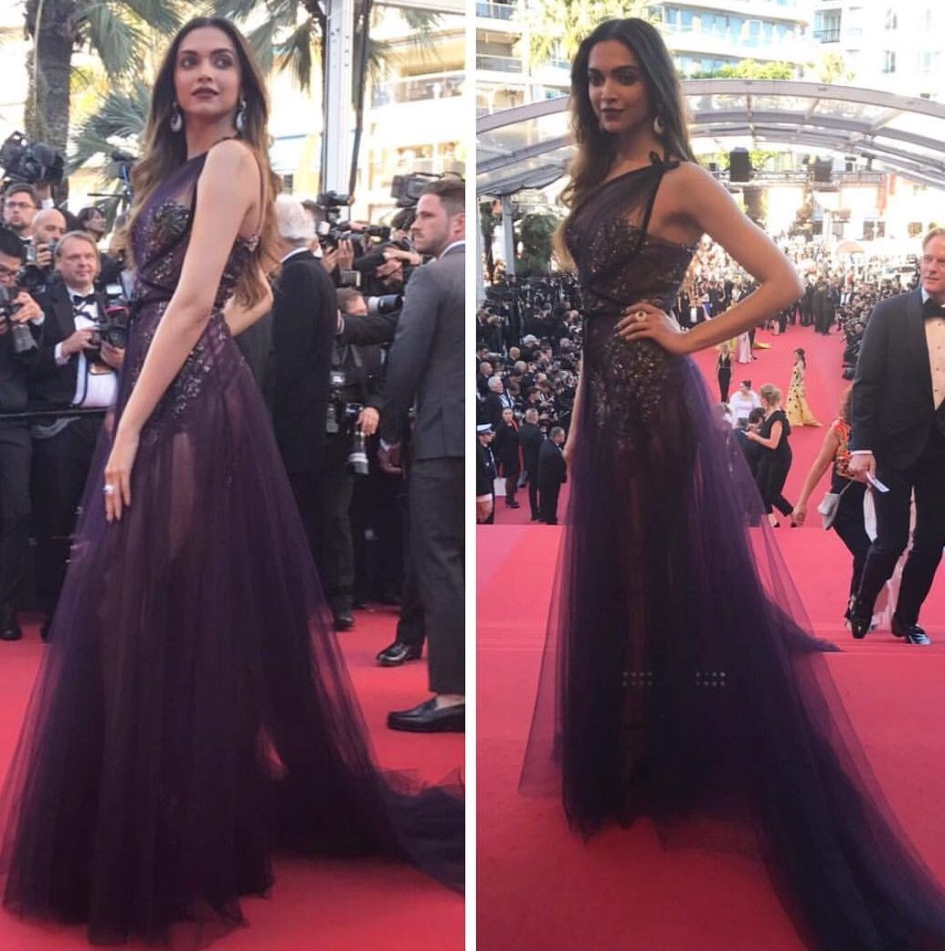 Deepika Padukone at the red carpet of the Cannes Film ...