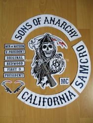 Online Shop Original Sons Of Anarchy Embroidery Twill Biker Patches For Jacket Back Full Size And Full Set Motorcycle Clu Sons Of Anarchy Anarchy Biker Patches