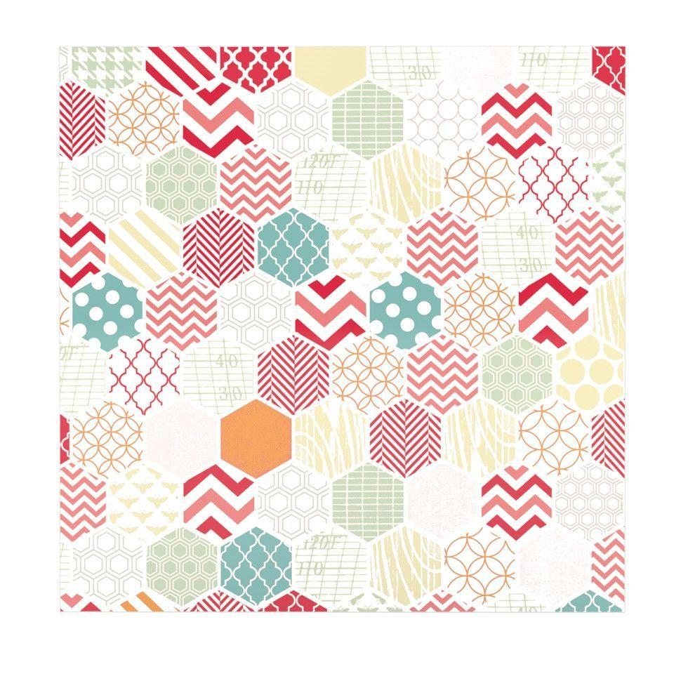 "Heidi Jennings ""Geo Pastel"" Geometric Luxe Square Panel"