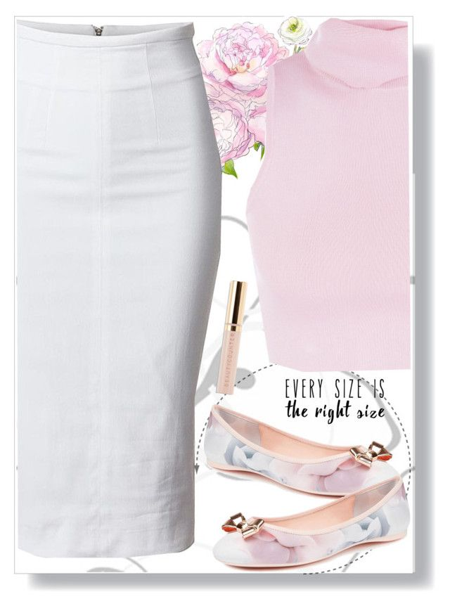 """""""Plum Pink"""" by destinyqu ❤ liked on Polyvore featuring Ted Baker and Beautycounter"""