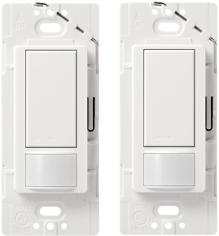 Lutron Motion Sensor Occupancy Detector Detection Automatic Light Switch 2 Pack Lutron Motion Sensor Motion Detector Detector