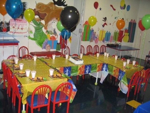 party decorations from partytrail kidsluautable tropical decor birthday hawaiian ideas kids purpletrail for luau