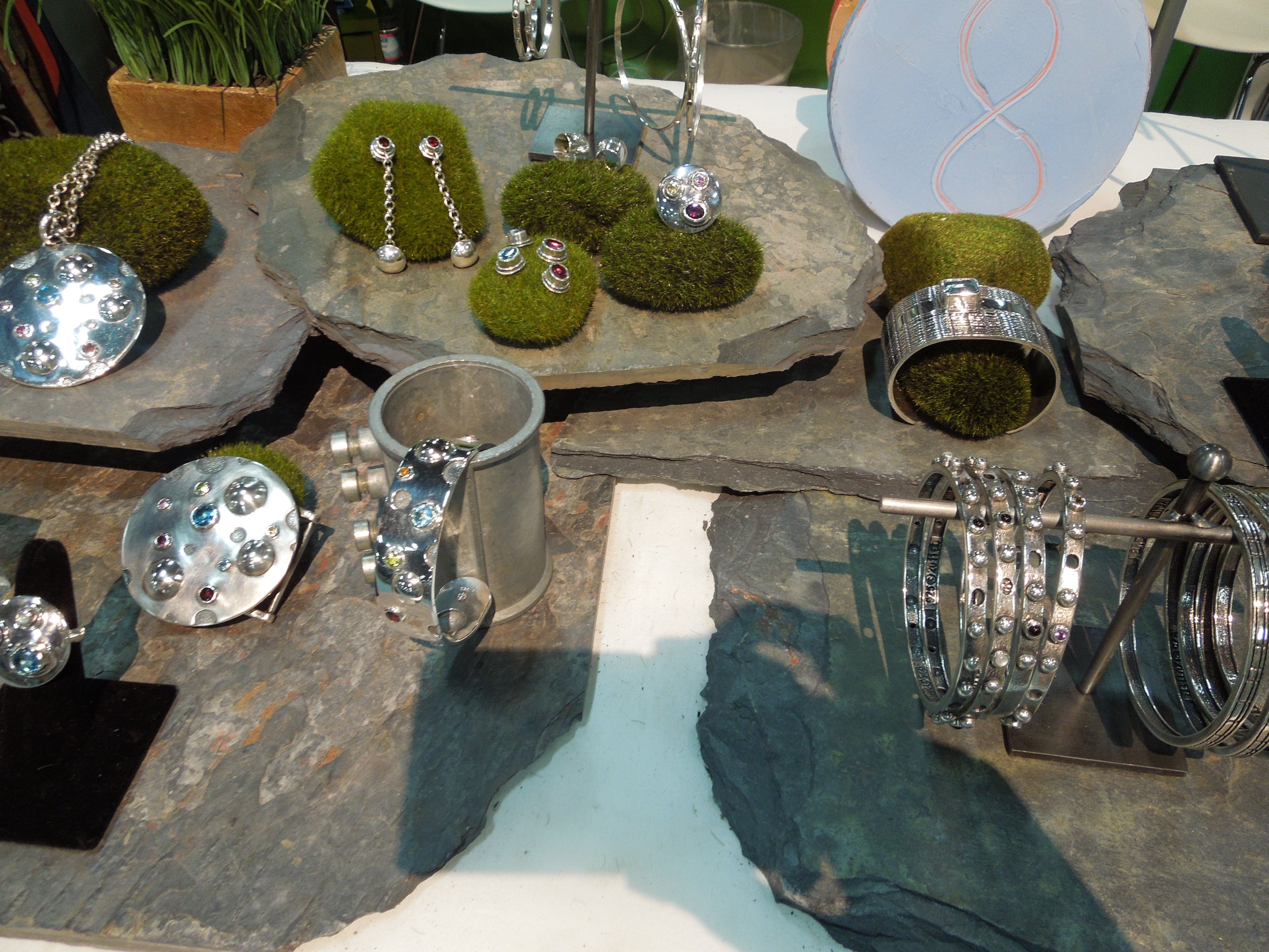 Window display ideas for jewellery  amy conway points of light collection at magic market week  jewelry