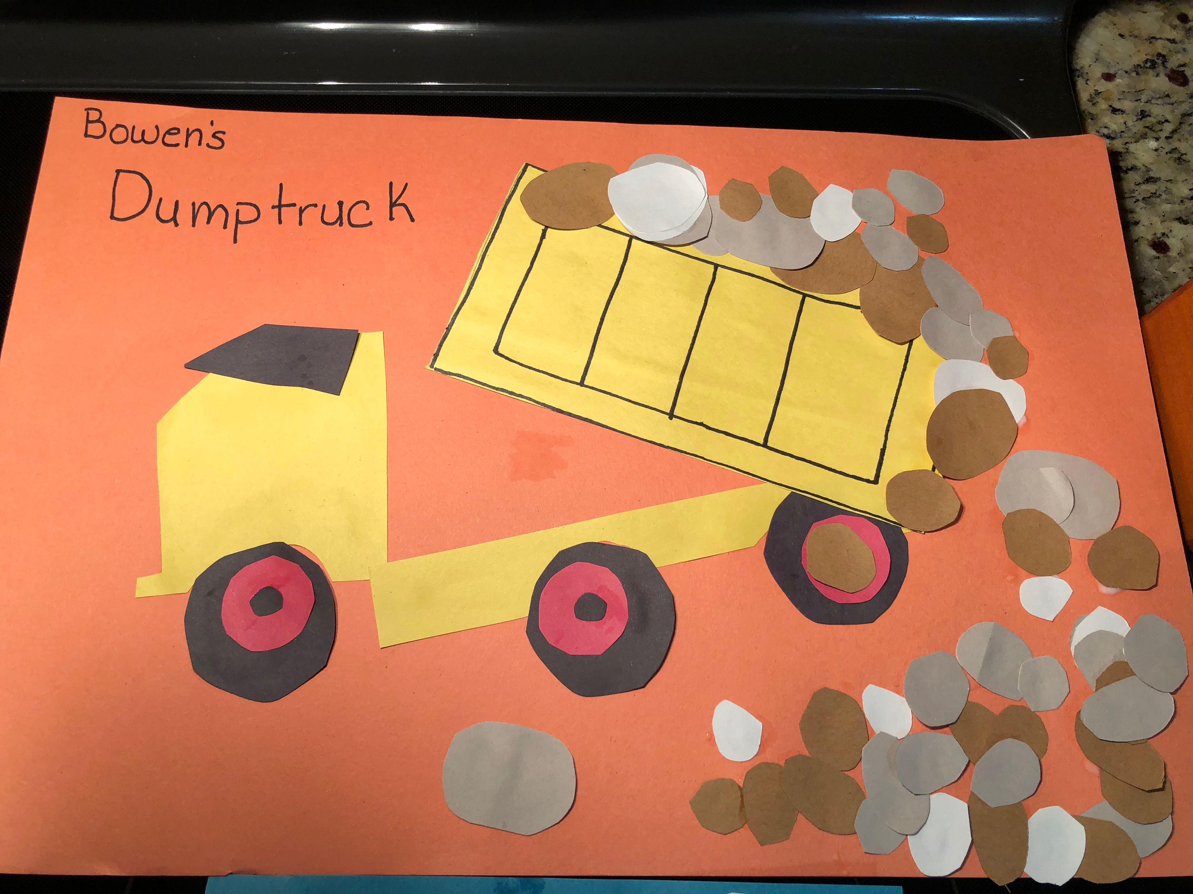 Letter D Preschool Craft Dump Truck