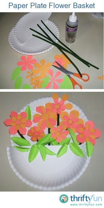 Making Paper Plate Flower Baskets Easter Crafts Crafts Paper