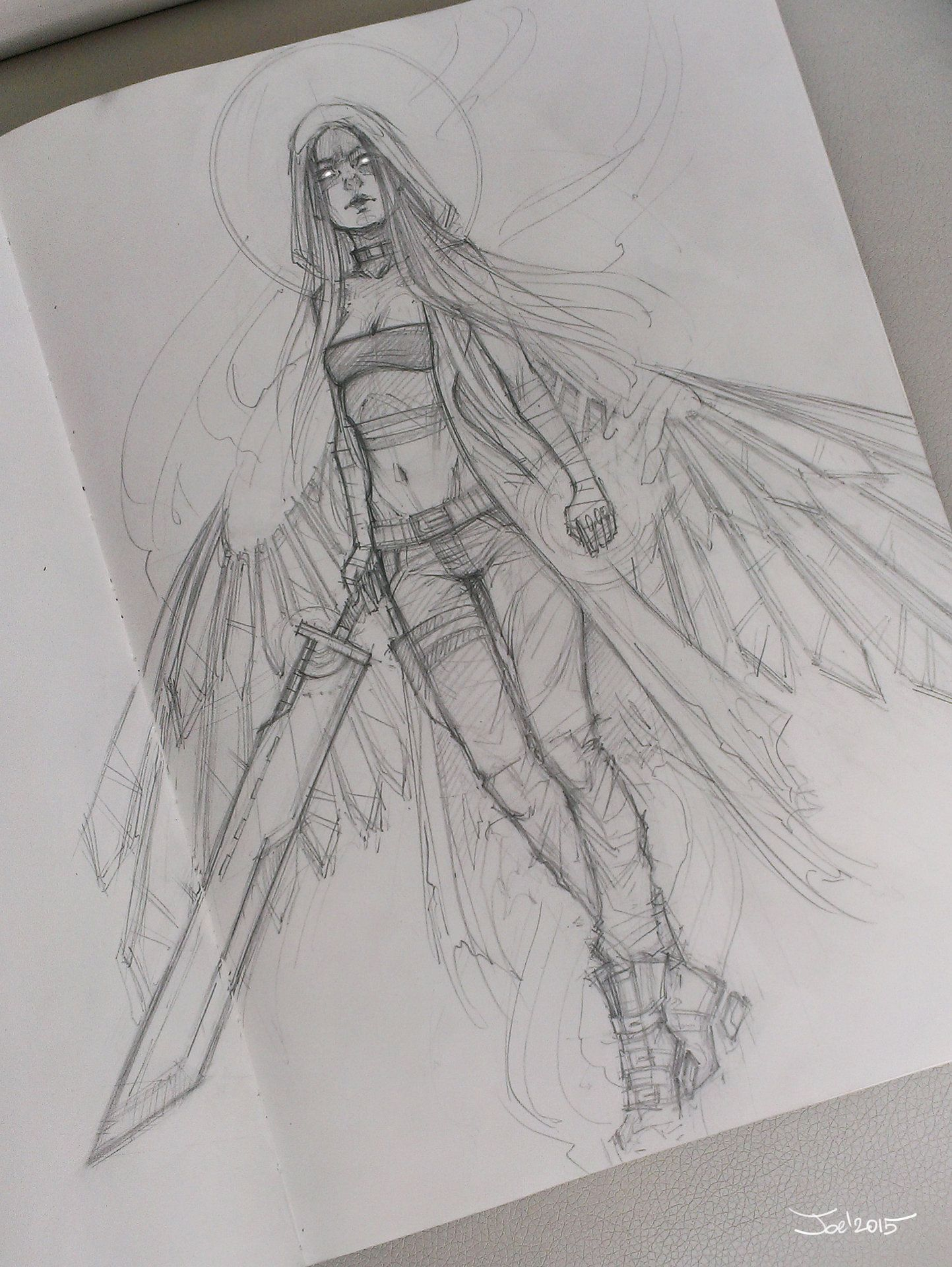 Angel Sketch, James Dollar
