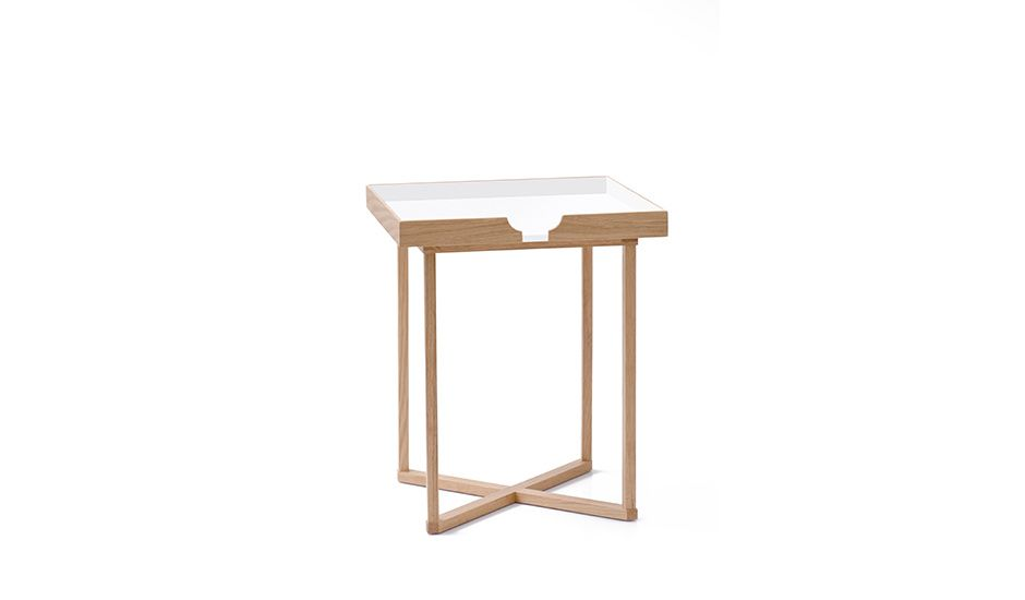 Monoqi Eckiger Beistelltisch Weiss Side Table White Round Side Table Square Side Table