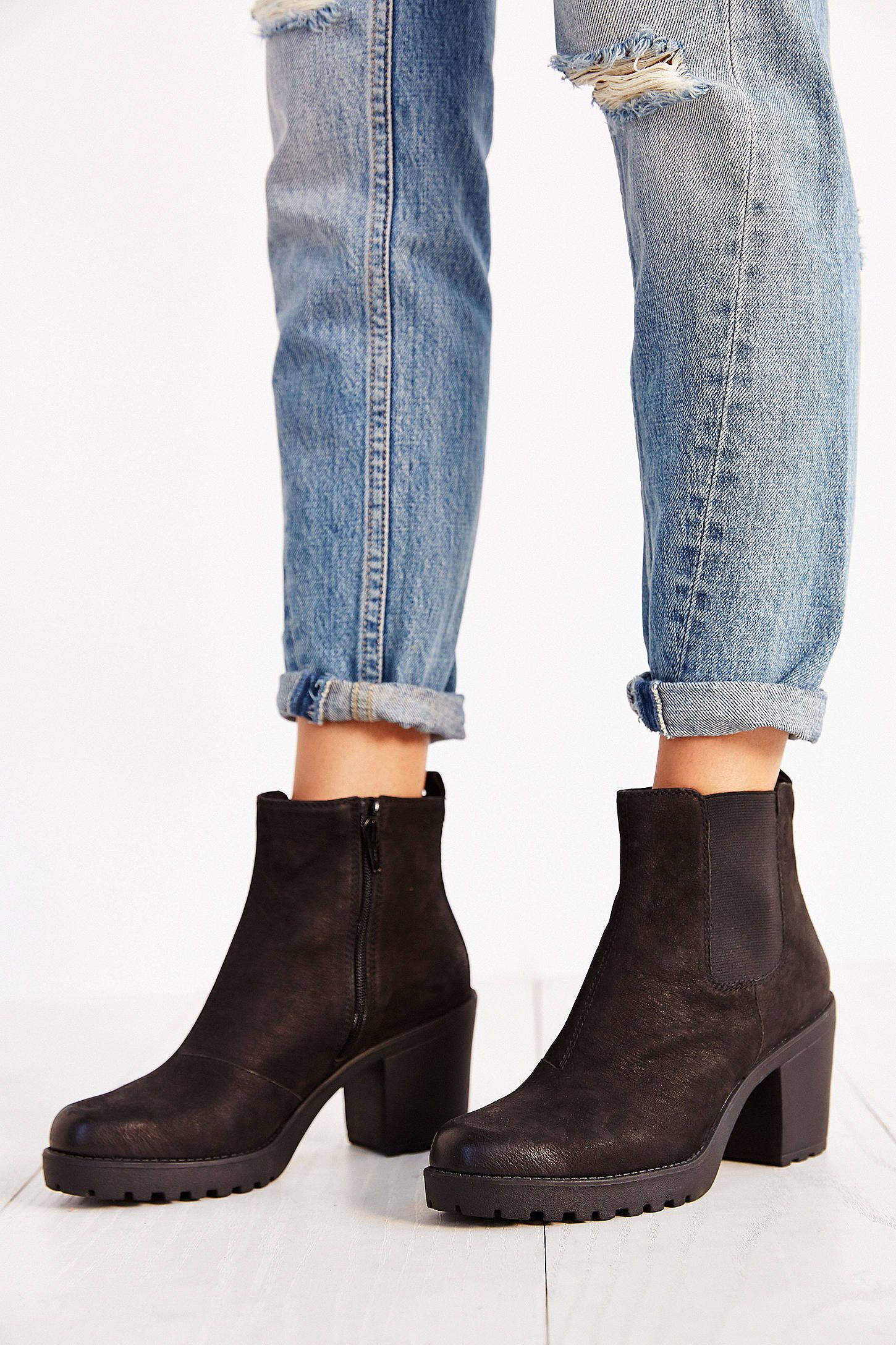 Chelsea Grace Black Nubuck BootsBottines Vagabond Ankle kiXZuP