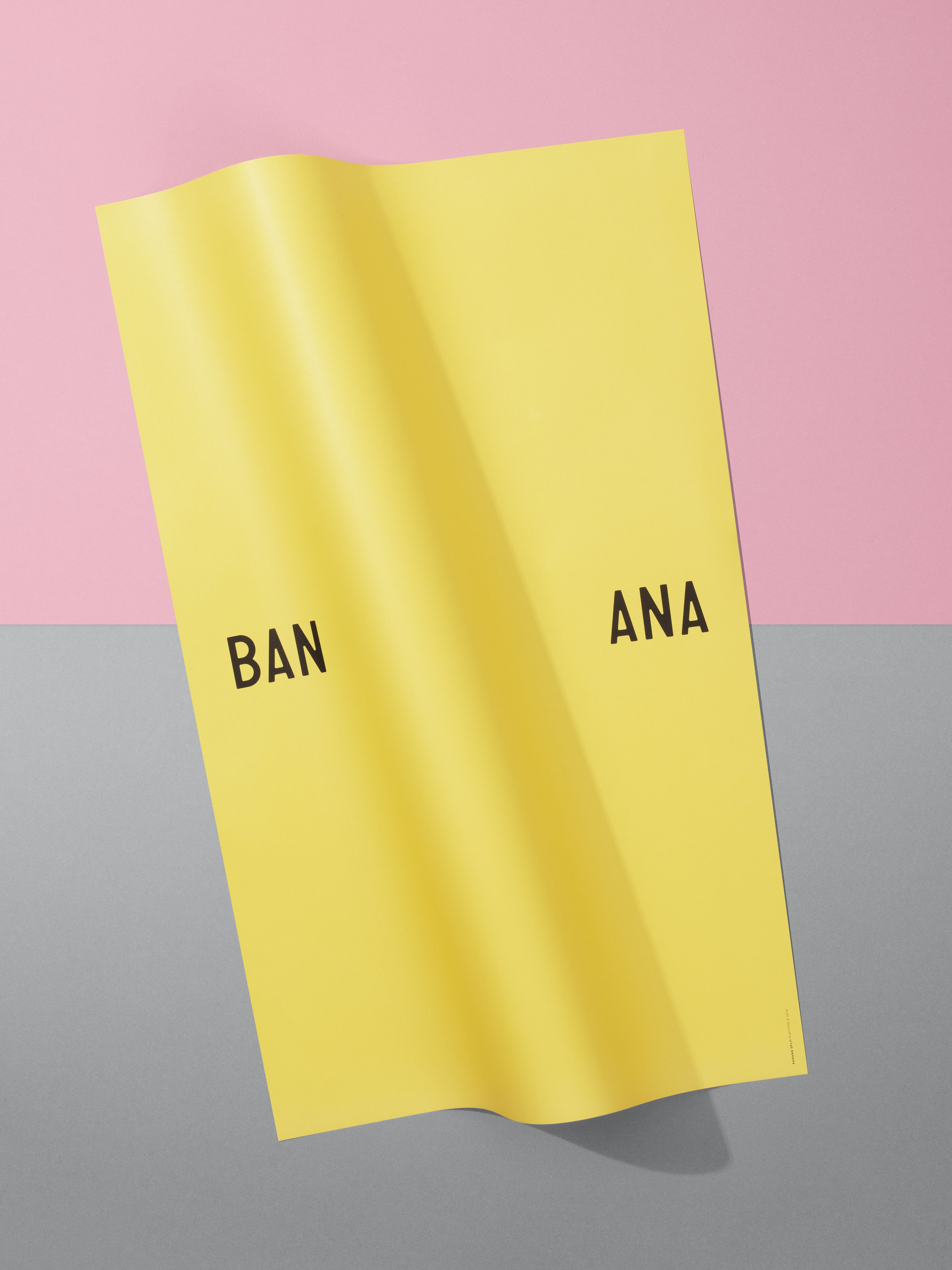 Design poster 70x100 - Banana Split Poster 70x100 At The Playtype Store Or Playtype Com