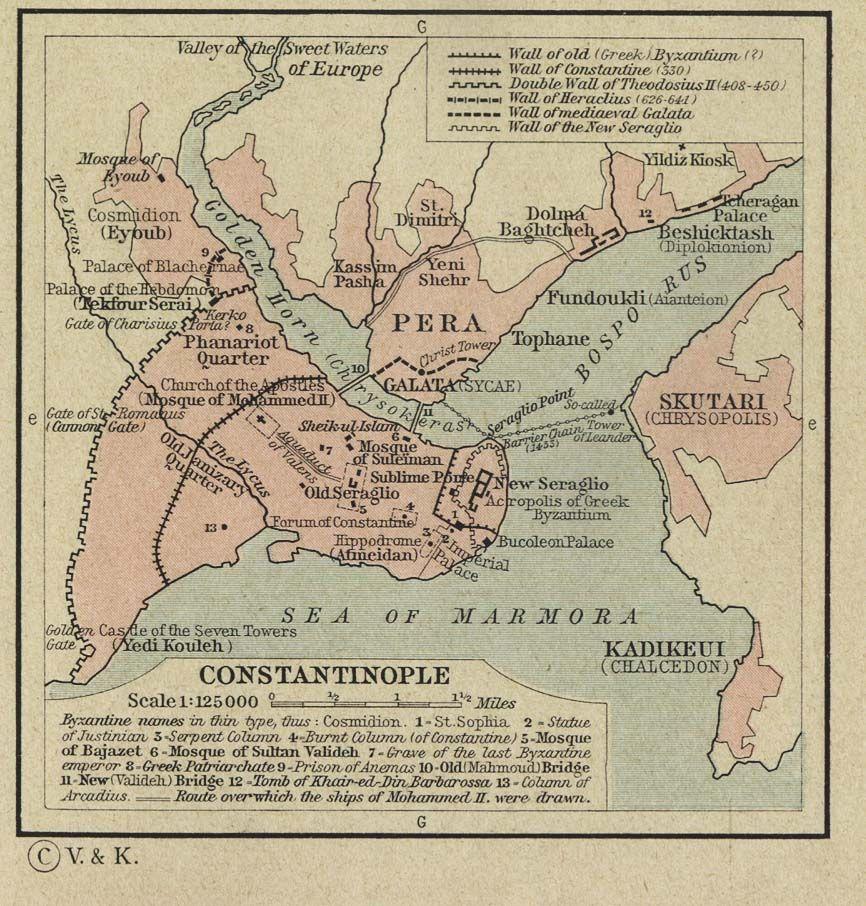 Carte Wilayah de Constantinople