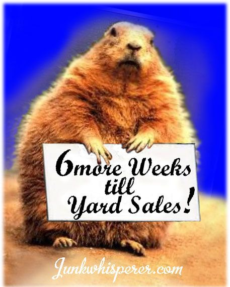 """Happy Groundhog Day! Ours says """"6 more Weeks till Yard ..."""