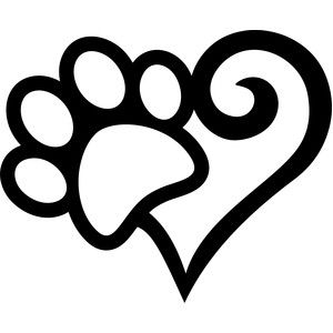 Silhouette Design Store: footprint arabesque heart