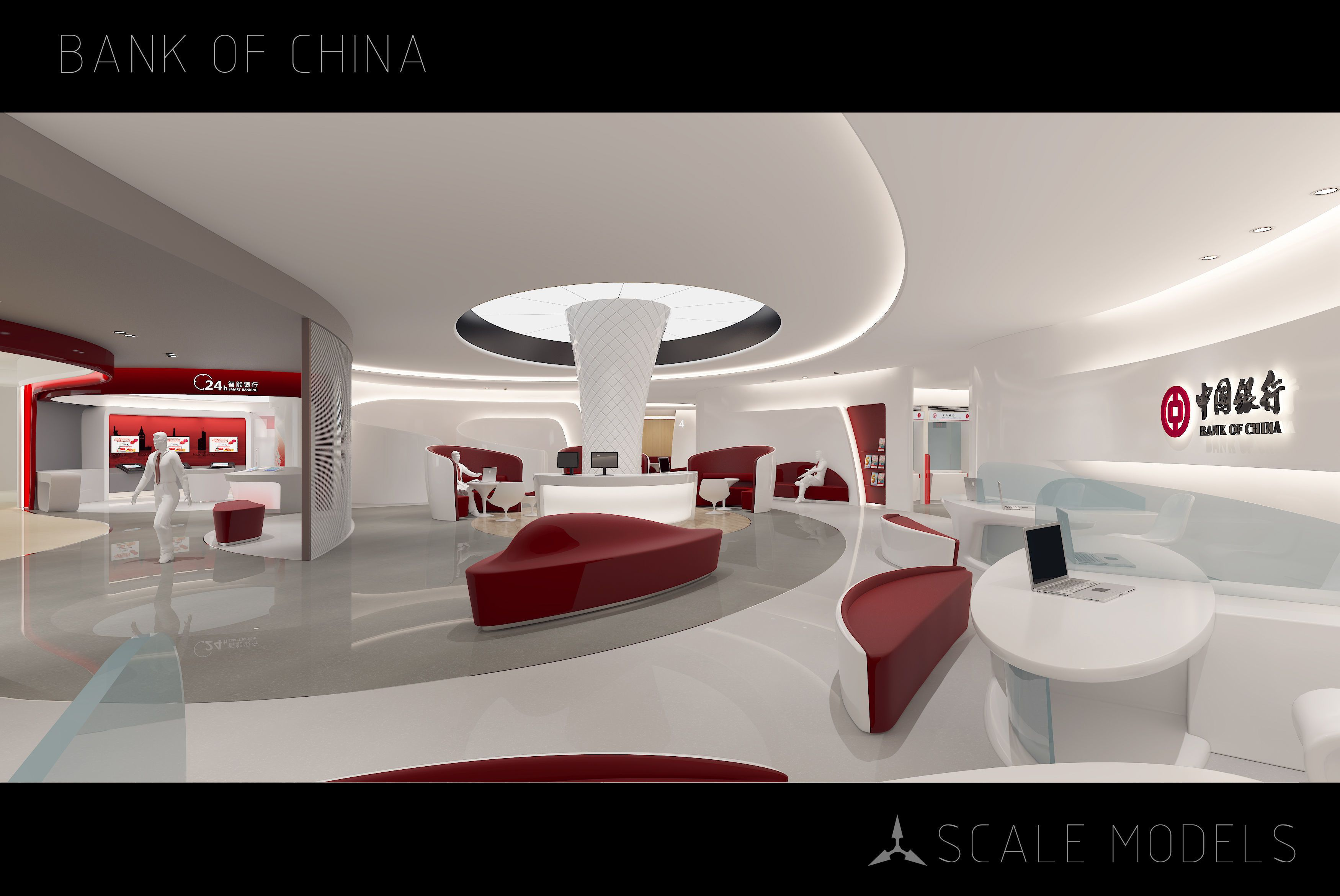 Bank Of Future Bank Of China By Scale Bank Of Future Interior Note The Models Of The Humman Not Included Highly Detailed Models R Model Interior 3d Model