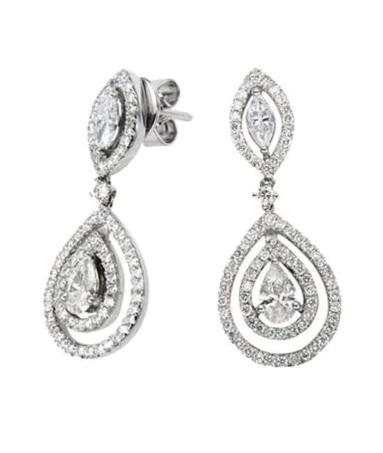 Diamond Earrings In 18k White Gold 1 2 Ct Tw Tara Fine Jewelry Company Atlanta