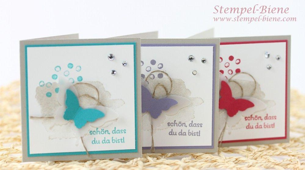 eine schnelle dankeskarte mit stampin 39 up happy watercolor karten papier basteln pinterest. Black Bedroom Furniture Sets. Home Design Ideas