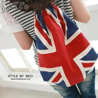 Union Jack-Print Backpack from #YesStyle <3 rico YesStyle.com