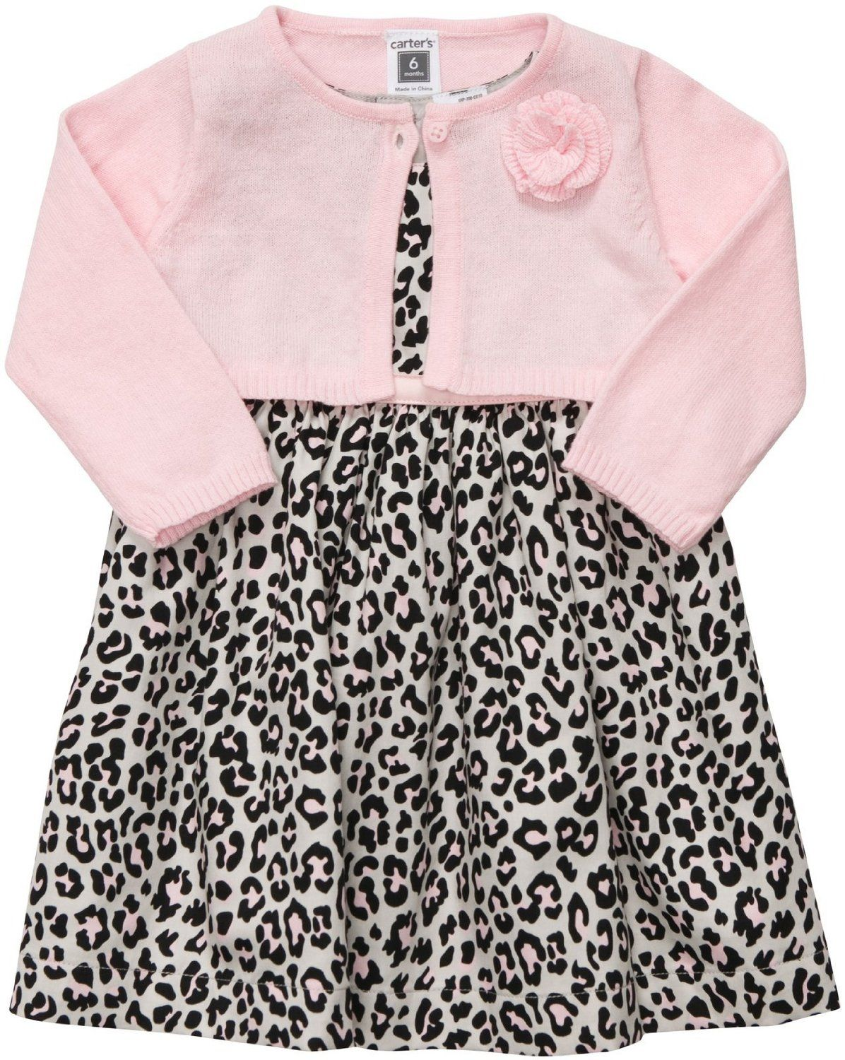 Amazon.com: Carter's Baby Girl's Dress & Cardigan Set: Clothing ...