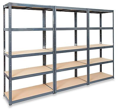 Delicieux 3 X 600mm Deep Garage Shelving Units Extra Depth Metal Racking Storage  System