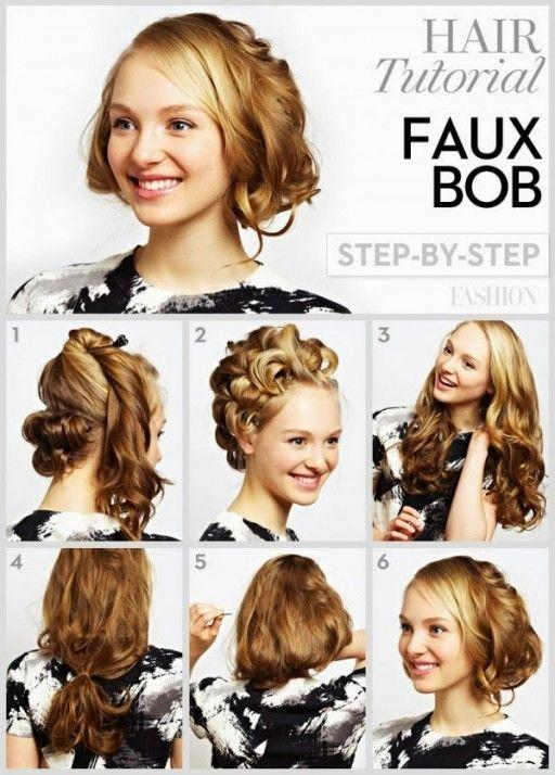 DIY Short Curly Hairstyle | Hairstyles | Pinterest | Diy shorts ...