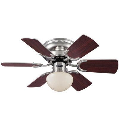 Westinghouse Lighting 30 Petite 6 Blade Ceiling Fan Brushed