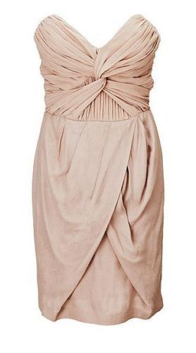 H M by NIGHT BEIGE TWIST-FRONT STRAPLESS Dress EUR 40 US 10 ... 02f53bfe18