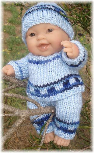 Perry Outfit For 8 20cm Chubby Baby Doll Pattern By Angela