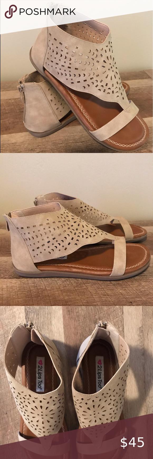 2 Lips Too Sandal Cutout Sandal Sandals Shoes [ 1740 x 580 Pixel ]