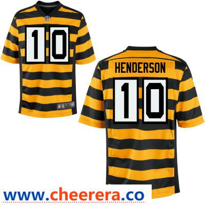 Men s Pittsburgh Steelers  10 Quadree Henderson Yellow with Black Bumblebee  Stitched NFL Nike Elite Jersey 412111dc5