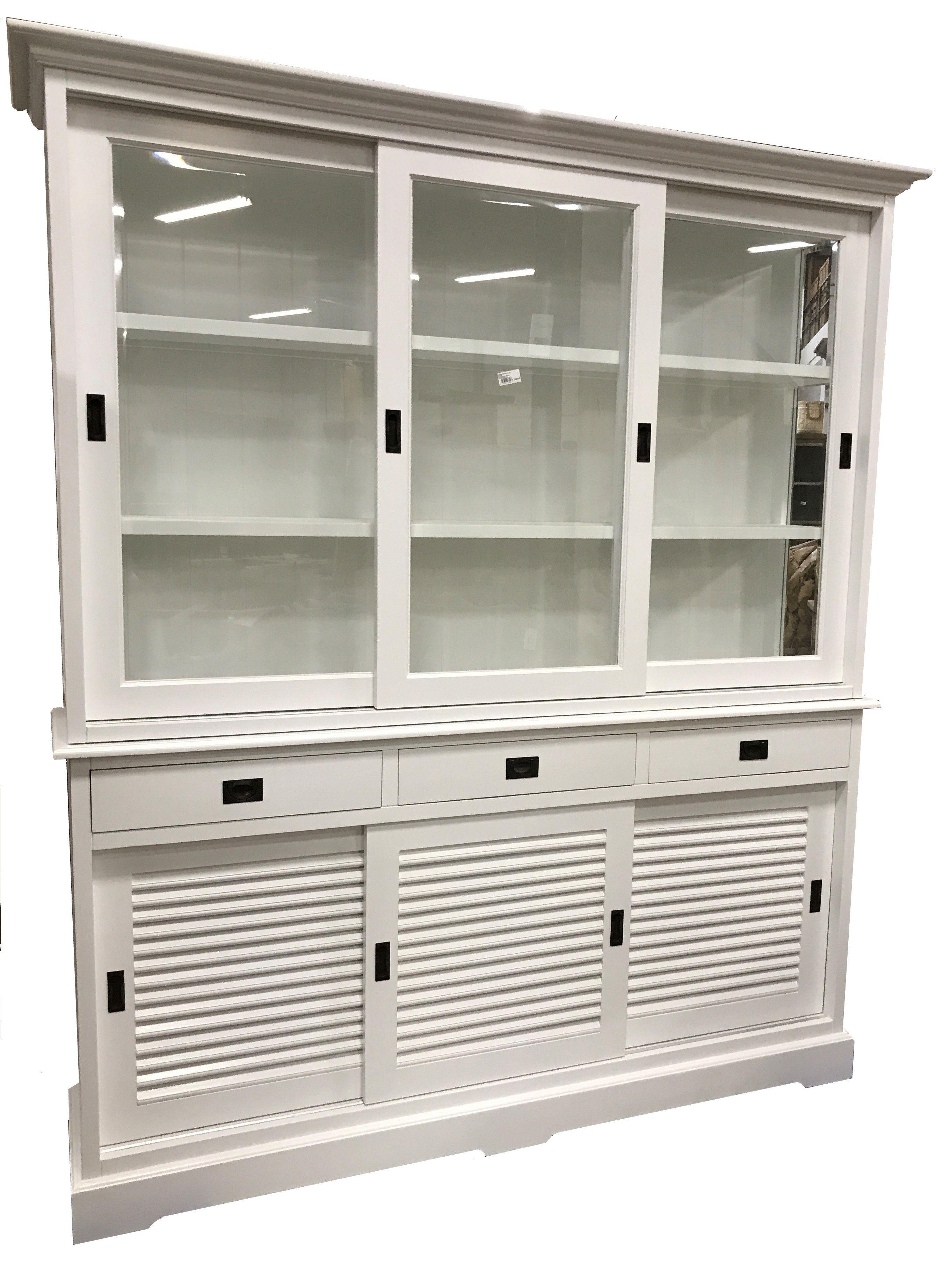 Buffetkast Wit Louvredeuren 180cm Mooie Witte Kast Met