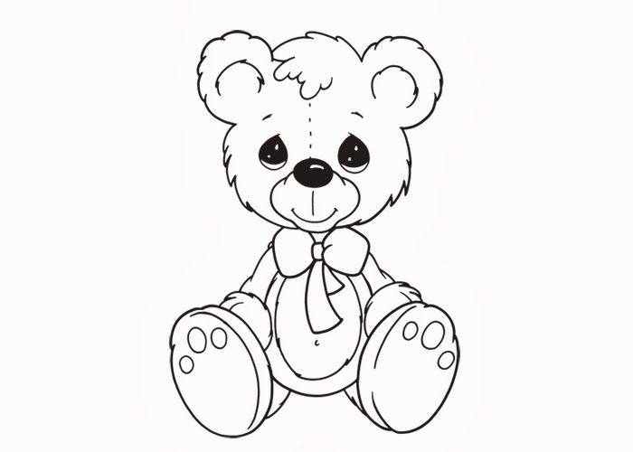 Teddy Bear Coloring Pages Teddy Bear Pinterest Teddy bear