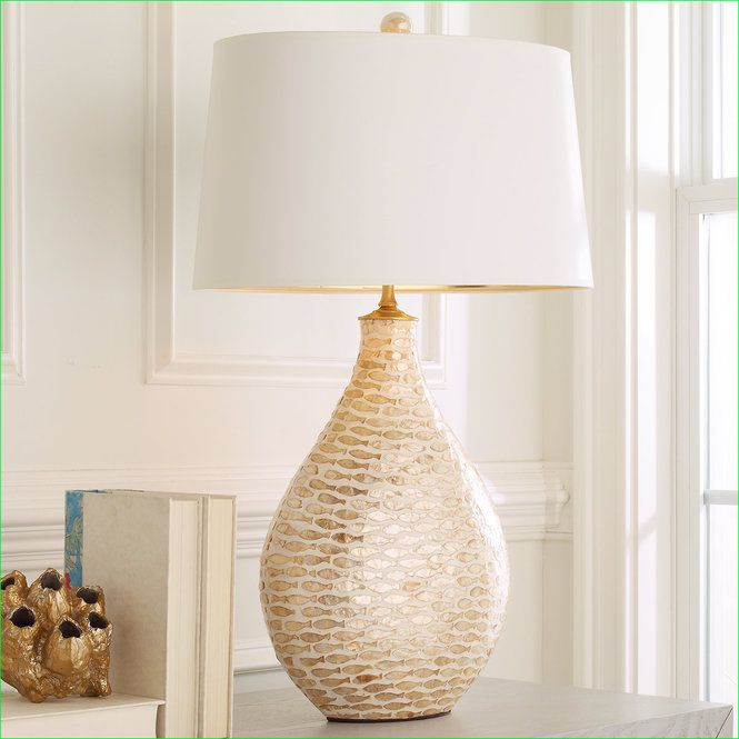 Check out pisces capiz shell table lamp from shades of light upon closer inspection you will