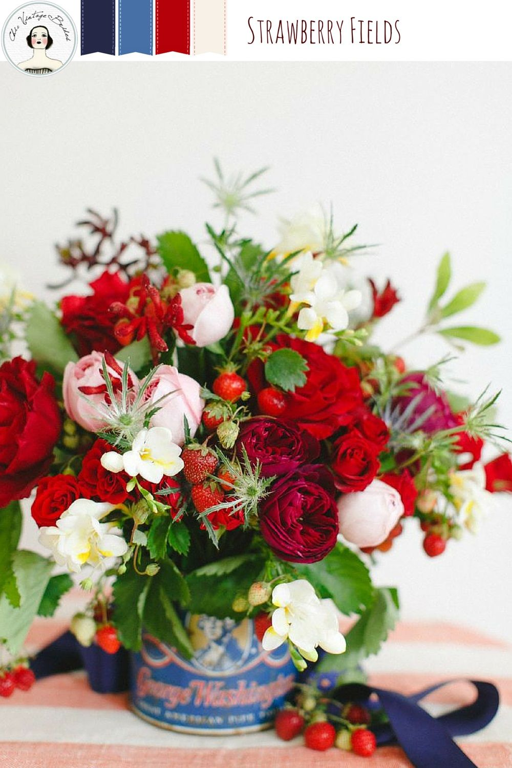 Beautiful Summer Wedding Ideas in Red, White & Blue