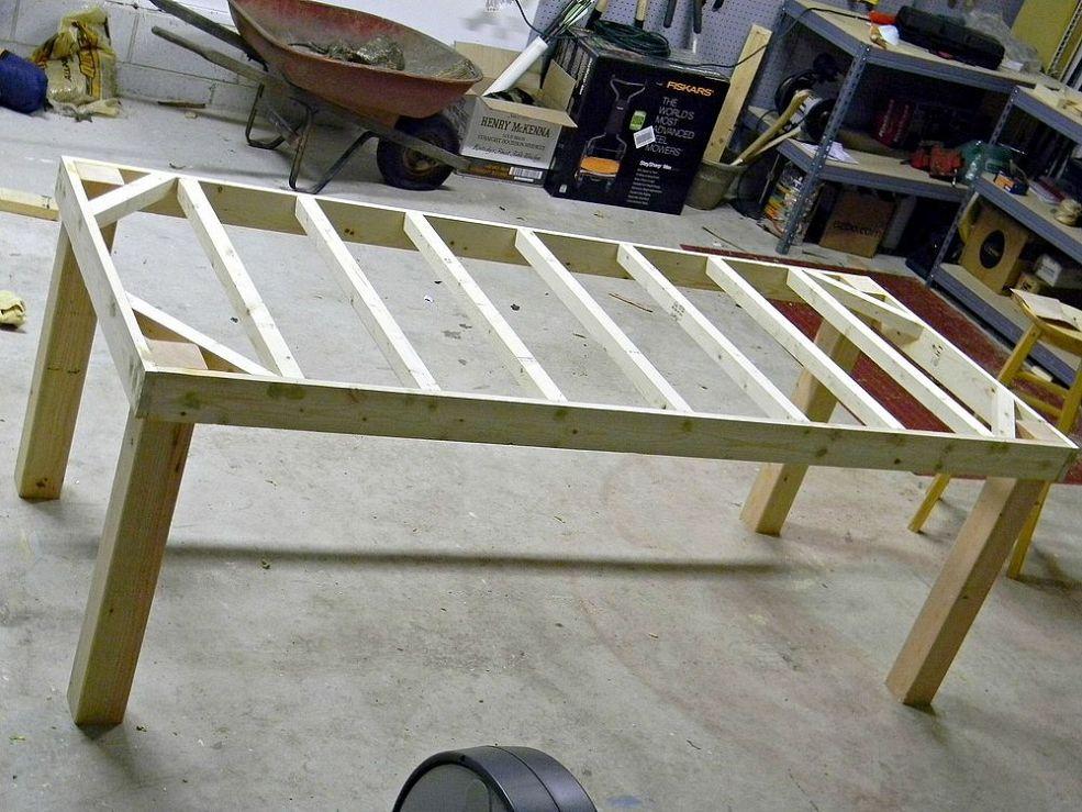 Handbuilt Farmhouse Table Table De Ferme Diy Table Artisanale