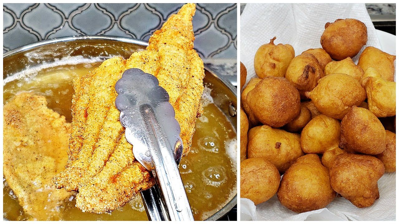 Fried Catfish and Hushpuppies Recipe How To Fry Fish