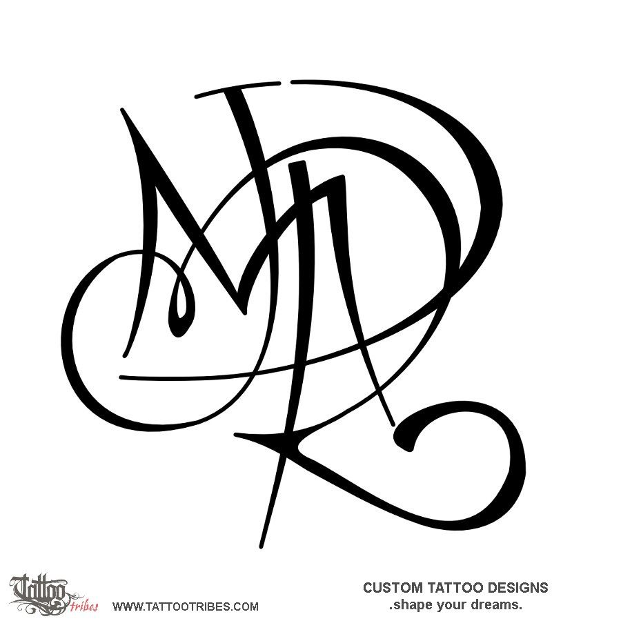 D+R+J+M. Union. The Letters That Shape This Tattoo