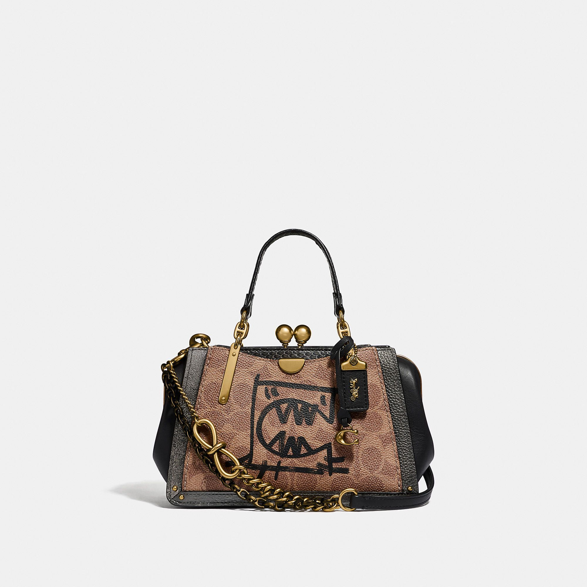 0d021105f COACH Kisslock Dreamer 21 In Signature Canvas With Rexy And Snakeskin  Detail By Guang Yu -
