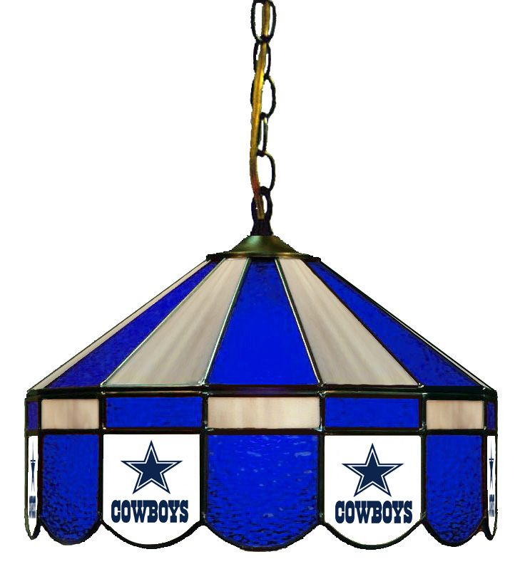 Dallas Cowboys Stained Glass Pub Lamp #NFL serenityhealth.com